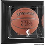 NBA Wall Mounted Basketball Display Case Frame Finish: Black, NBA Team: NBA