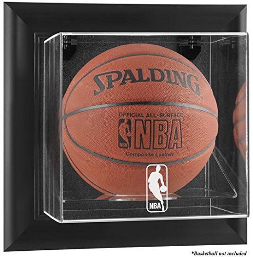 NBA Wall Mounted Basketball Display Case Frame Finish: Black, NBA Team: NBA by Sports Memorabilia