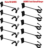 Performance Plus GH180S-10 Acoustic Guitar Hanger 180º Swivel 9'' Long for Slatwall, 10 Pack