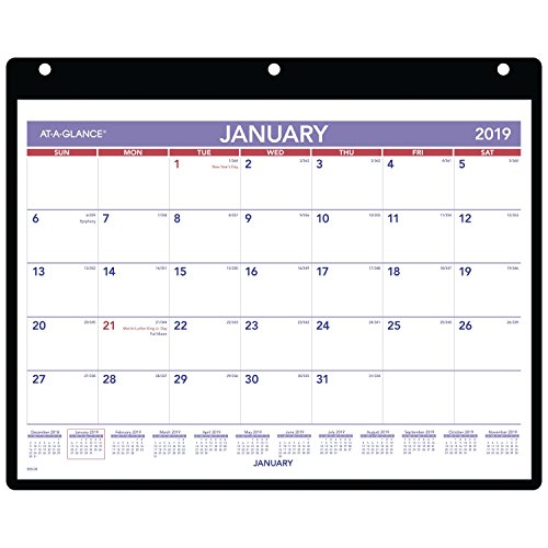 AT-A-GLANCE 2019 Monthly Desk / Wall Calendar, 11