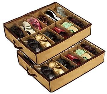 Organizer Kasten Zur Aufbewahrung Unterm Bett Fur 12 Paar Schuhe 2