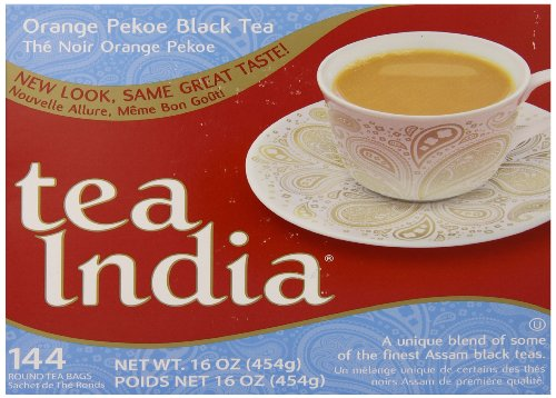 India Orange Tea (Tea India Orange Pekoe Black Tea, 16 Ounce, 144)