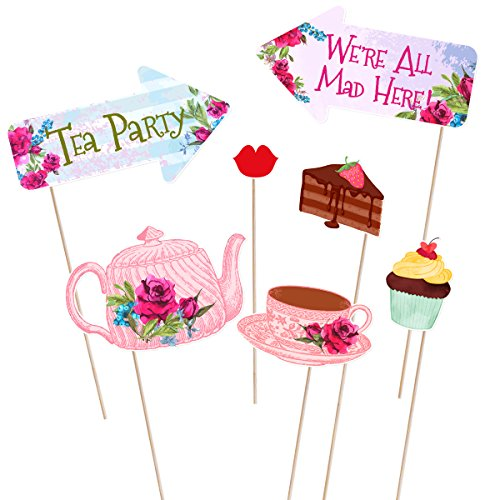 Tea-Party-Photo-Booth-Props-Stick-Funny-Supplies-Wedding-Bachelorette-Engagement thumbnail 8