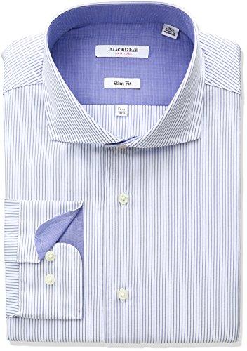 isaac-mizrahi-mens-slim-fit-pencil-stripe-cut-away-collar-dress-shirt-blue-155-neck-34-35-sleeve