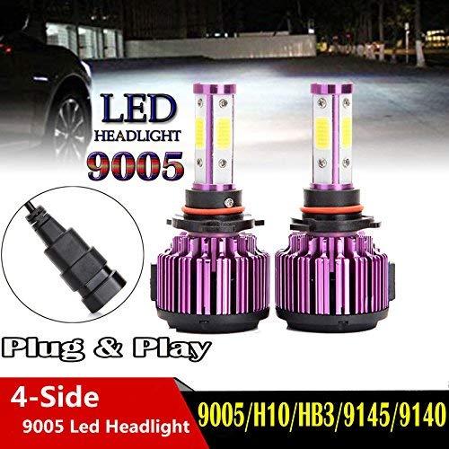 4-sides 9005+9006 LED Headlight Kit Blub Hi+Lo Beam Lamp For Chevrolet Silverado