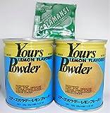 Yours (Japan) Lemon Flavored Powder, 5.2 oz./2 cans + Philippine Lemon Calamansi Salmpler Sachet