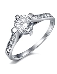 Global Jewelry Amazing Titanium Lady's Wedding Band Ring Anniversary/Engagement/Promise Ring Best Gift!