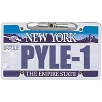 Pyle PLCM21 Car Van Vehicle Waterproof License Plate Color Backup Camera, Parking Reverse Assistance, Night Vision