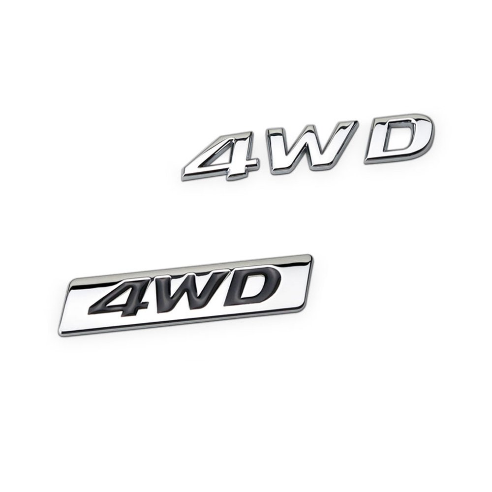 DSYCAR 3D Metal 4WD Car sticker Logo Emblem Badge Sticker Decals Car Styling DIY Decoration Accessories for Universal Cars Moto Bike Car Styling Decorative Accessorie #1