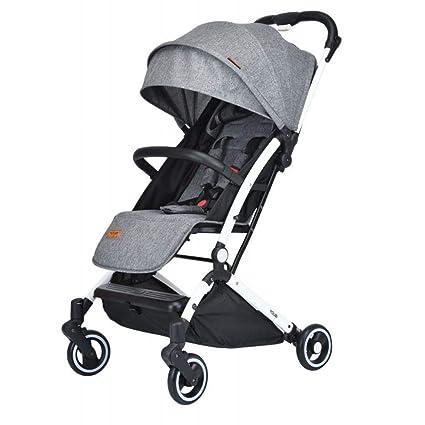 WU el Cochecito de Bebé Se Puede Sentar Reclinable, Portátil, Plegable, Bolsillo para