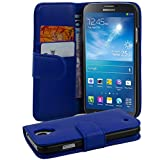Cadorabo - Book Style Wallet Design for Samsung Galaxy MEGA 6.3 (I9200) with 2 Card Slots and Money Pouch in Smooth Fauxleather - Etui Case Cover Protection in NAVY-BLUE