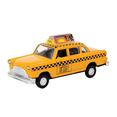 Schylling NYC Taxi in Yellow with Pullback Action: Toys & Games