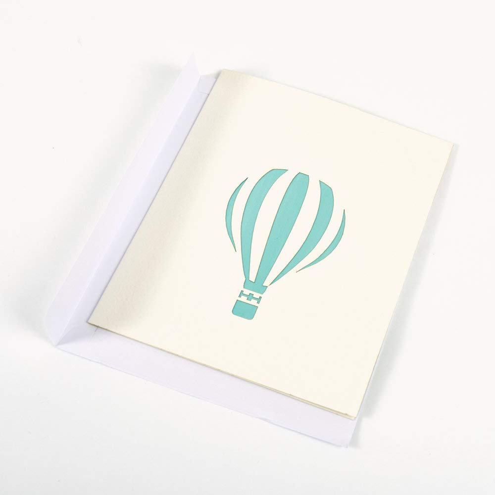 Handmade 3D Handcrafted Gift Icons Hot Air Balloon Pop up Card