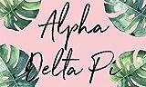 Alpha Delta Pi - Sorority Letter Flag (Tropical Design)
