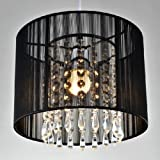 LightInTheBox Modern Black Brushed Crystal Chandeliers with 1 Light LED Pendant Lamp Ceiling Fixture