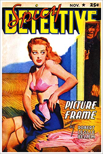 - Spicy Detective Picture Frame Vintage Pulp Magazine Cover Retro Art Poster - 18x24