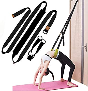 XEMZ Yoga Fitness Stretching Strap - Back Bend Assist Trainer, Improve Leg Waist Back Flexibility, Door Flexibility Stretching Strap, for Rehab ...