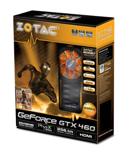 Zotac GeForce GTX 460 GPU 2 GB GDDR5 256-bit (710MHz/3600...