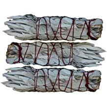 "SK White Sage INC. Mini White Sage Smudging Stick (3-Pack) 4"""