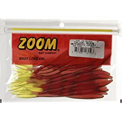 Zoom Trick Worm-Pack of 20 (Motoroil Chartreuse, 6.75-Inch)