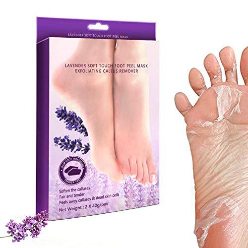 2 Pairs Exfoliating Foot Peel Mask-Peeling Away Rough Dead Skin & Calluses in 1-2 Weeks Repair Rough Heels Lavender for Men Women & Get Soft Smooth Baby Foot