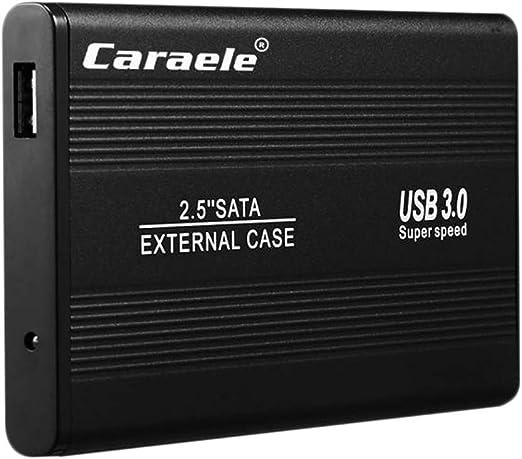黒合金外付けハードドライブディスクストレージデバイス2.5インチUSB 3.0-1T