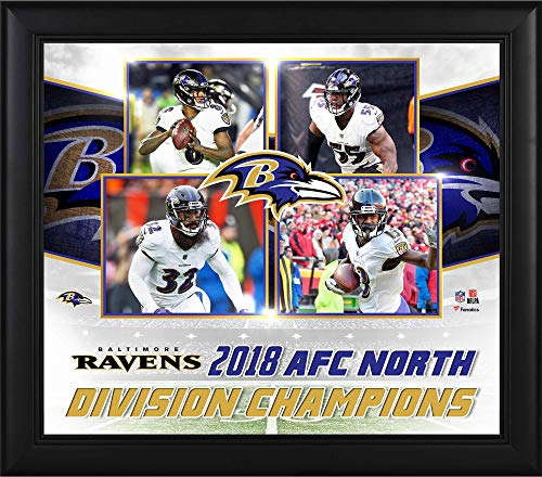 "Baltimore Ravens Framed 15"" x 17"" 2018 AFC North Division Champions Collage - NFL Team Plaques and Collages"