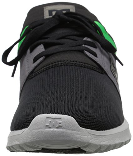 Men's Heathrow Black Skate Shoe Casual Green Grey DC dxUqwvd