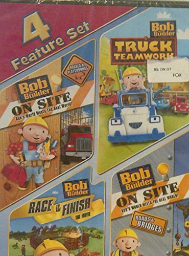 - Bob the Builder 4 Feature Set DVD (On Site Houses & Playgrounds/ Truck Teamwork/ Race To The Finish/ On Site: Roads & Bridges)