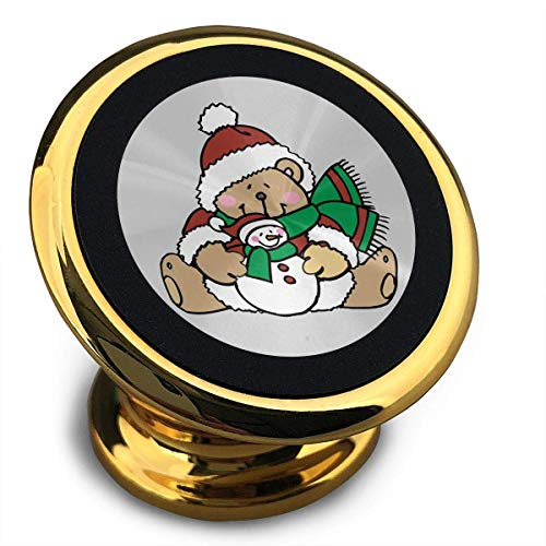(Universal Magnetic Phone Car Mounts Magnet Holder Cute Teddy Bears Dressed for Christmas Magnetic Mount for Phone 360° Rotation)