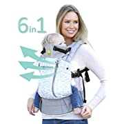 SIX-Position, 360° Ergonomic Baby & Child Carrier by LILLEbaby – The COMPLETE All Seasons (Grey Frosted Rose)