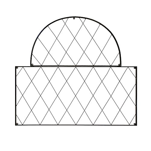 (Achla Designs FT-54 Oxfordshire Wrought Iron Garden Wall Lattice Trellis, Black )