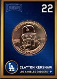 Clayton Kershaw 2018 Baseball Treasure MLB Coins Copper Los Angeles Dodgers FD3204
