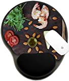 Luxlady Mousepad wrist protected Mouse Pads/Mat with wrist support design IMAGE ID: 34580436 Rucola salad ingredients rucola leaves shrimps almond nuts tomatoes sesame seeds olive oil che