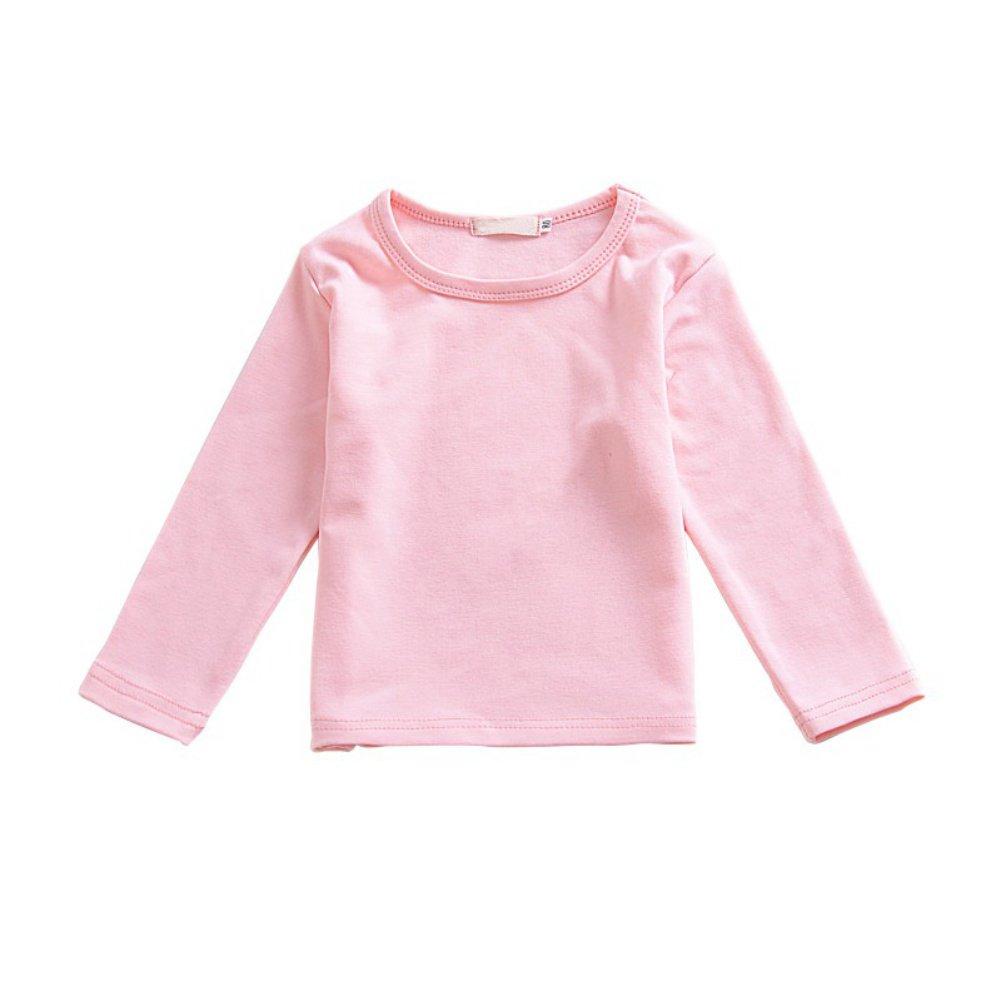 ESHOO Toddler Baby Girls Long Sleeve T-shirts Tops Tee: Amazon.co.uk:  Clothing