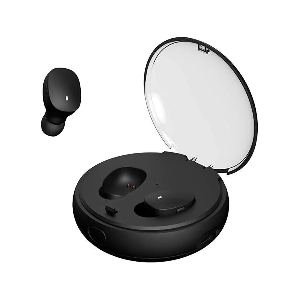 Bluetoothヘッドセット、 ミニ漫画 インイヤーワイヤレス TWSイヤホン、 充電ボックス付き、 防水IPX7、 HiFiサウンドクオリティ、 スポーツ、ジム、旅行,Black B07RJL9YP3 Black