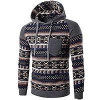 Mens Outwear,Laimeng Cotton Retro Long Sleeve Hoodie Hooded Sweatshirt Tops Jacket Coat Outwear (XXL, Dark Gray)
