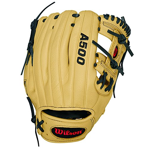 "Wilson A500 11.5"" Baseball Right-Hand Throw Glove - Black"
