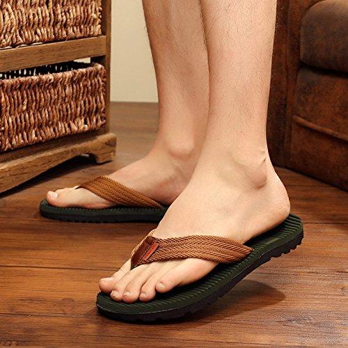 spiaggia estate uomini Estate uomini maschio e fankou comfort e marea personalizzato antiscivolo verde cool da pantofole 44 scarpe di YRzgqxn