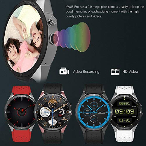 Kingwear Kw88 Pro 3g Wifi Smart Watch With Android 7 0 1 3ghz Quad