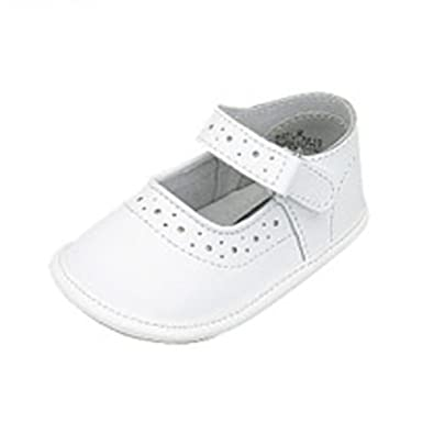 Amazon Com Infant Baby Girls White Mary Jane Style Soft Sole Shoes