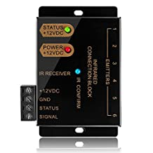 IR Repeater Blaster System Hidden Infrared Remote Control Extender Kit - Dual Head Emitter With 10ft Cable Receiver Operate Up to 12 Audio/Video (A/V) Components For Home Theater LCD TV Display