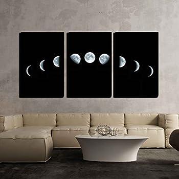 Amazon.com: phases of the moon Art Canvas Wall Art Prints 12 x 16 ...