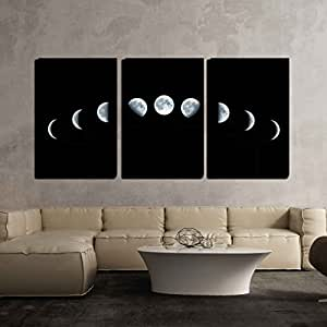 Amazon Com Wall26 3 Piece Canvas Wall Art Nine Phases