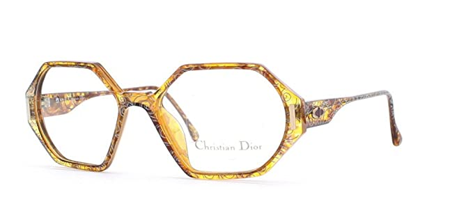 819e5fa8171 Christian Dior 2597 40 Brown Yellow Square Certified Vintage Eyeglasses  Frame For Womens  Amazon.co.uk  Clothing