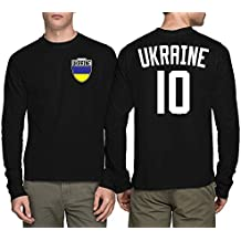Long Sleeve Mens Ukraine Ukrainian - Soccer Football T-shirt