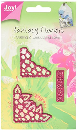 Joy! Crafts Cutting and Embossing Die, 3D Fantasy Flower Corners