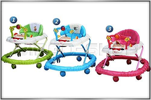Lauflernhilfe Gehfrei Gehhilfe Laufhilfe Baby Kind Lauflernwagen mit Musik L 63