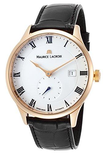 Maurice Lacroix Men's Masterpiece Automatic Black Crocodile White Dial