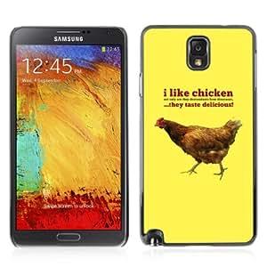 YOYOSHOP [I Like Chicknes Funny Message] Samsung Galaxy Note 3 Case